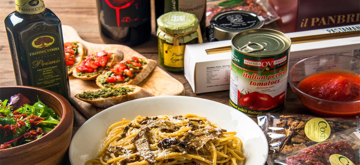 厳選し輸入。高品質なイタリア食材