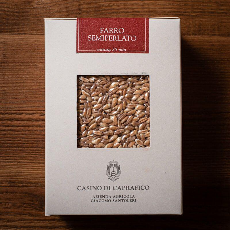 エンマー小麦 ファッロ セミペラート 500g