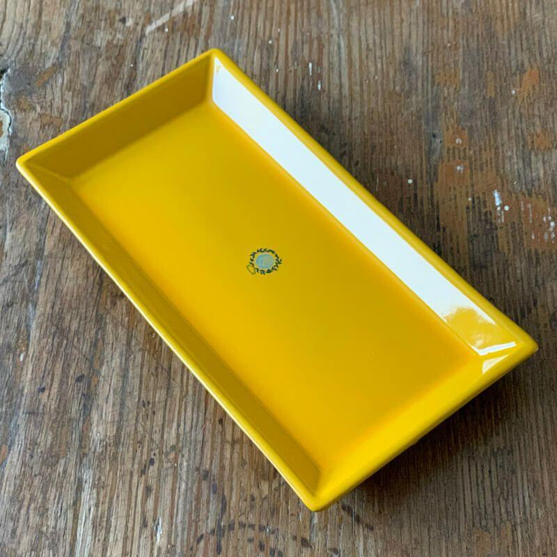MammaRo 長方形皿・イエロー29.5×15.5cm